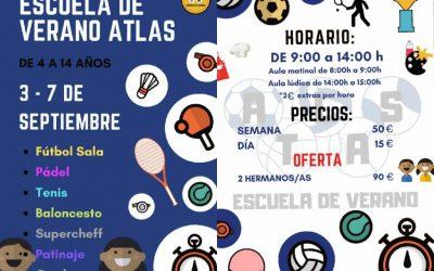 Escuela de verano ATLAS (3-7 Septiembre)