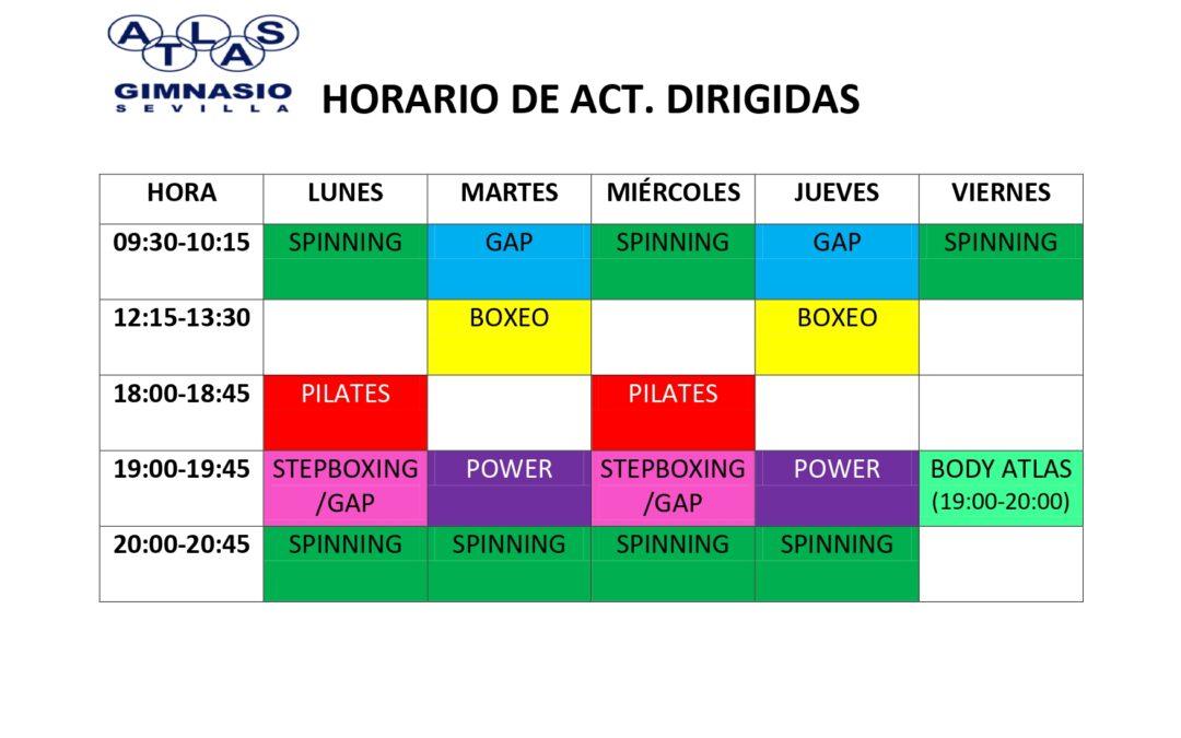 HORARIO ACT. DIRIGIDAS